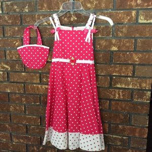 Rare Editions Girls Dress in Pink/White Size 7